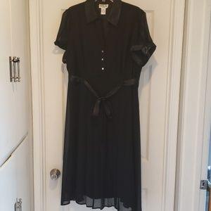 Robbie Bee Black Formal Dress,Plus Size 18W